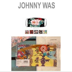 Johnny Was Silk Floral Face Mask